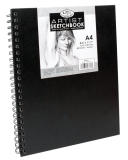Royal & Langnickel black sketch book - A4, 80 listov